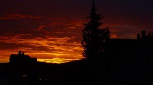 Sonnenaufgang in der Grünstraße